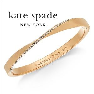 Kate Spade Bracelet twist pave hinged bangle